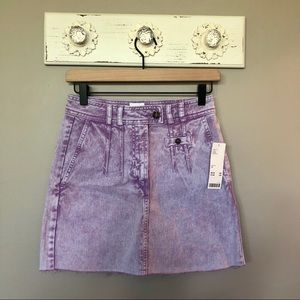 UO BDG | Lilac Sonny Acid Wash Denim Mini Skirt